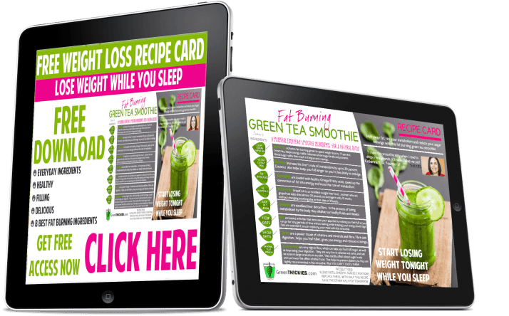 FREE Green smoothie recipe card