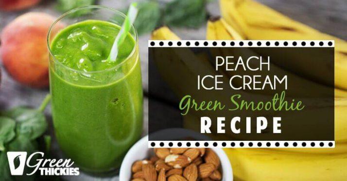 Peach Ice Cream Green Smoothie