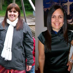 Katherine Kyle before and after weight loss with green smoothies