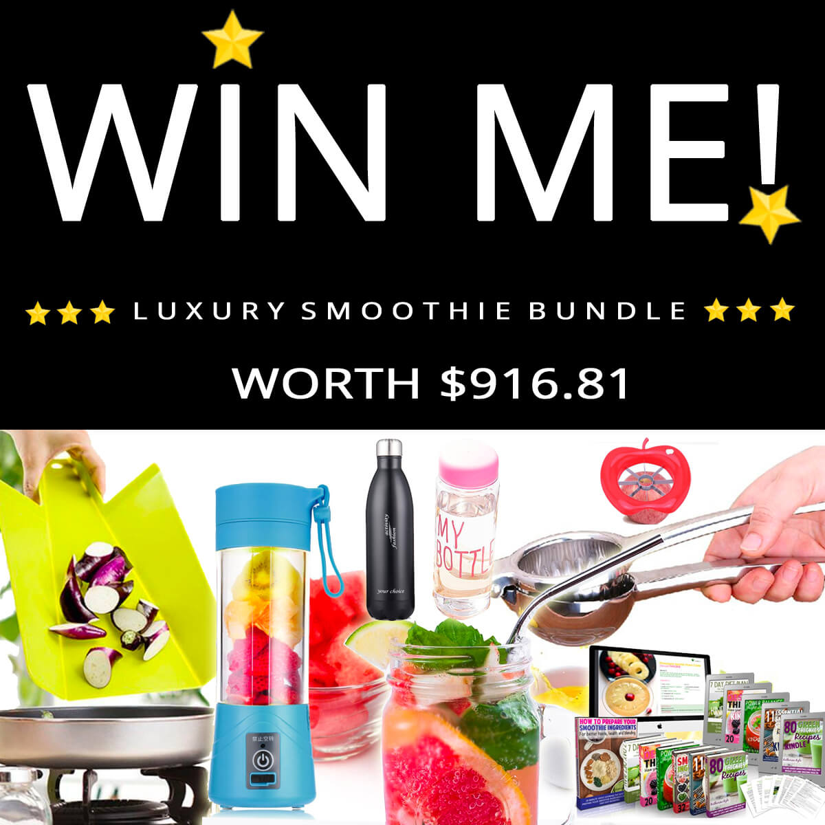 GIVEAWAY: Win this smoothie starter bundle by Green Thickies