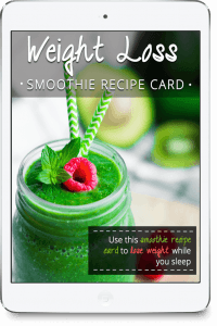 Weight Loss Smoothie Recipe Card