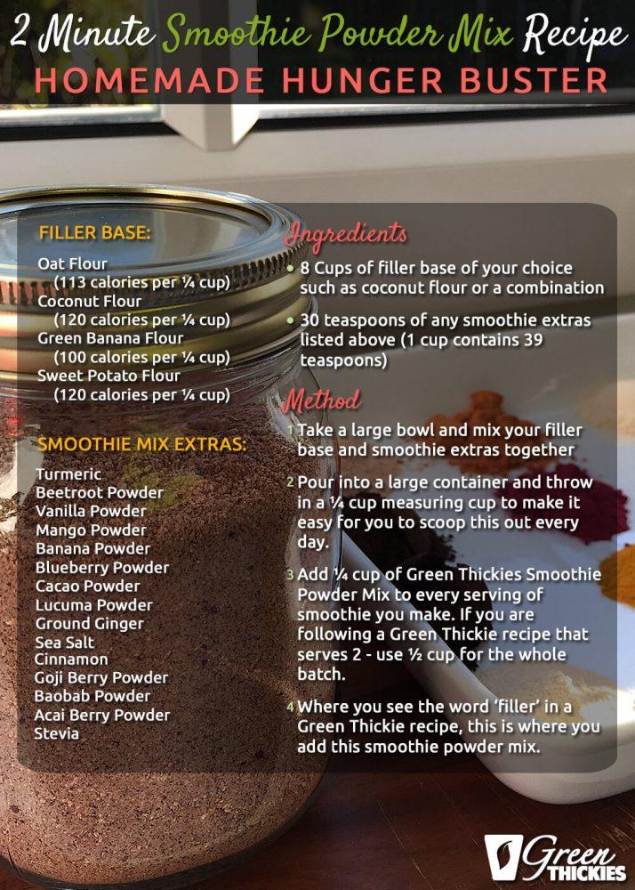 2 Minute Smoothie Powder Mix Recipe