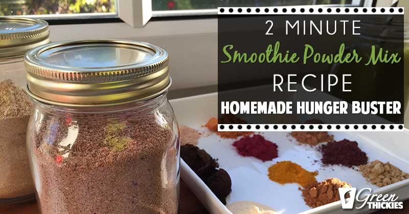2 Minute Meal Replacement Powder Recipe (vegan, gluten free)