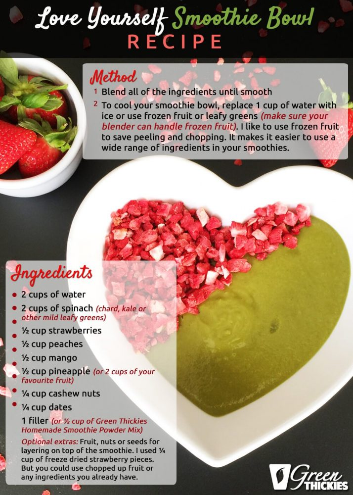 Love Yourself Smoothie Recipe Bowl