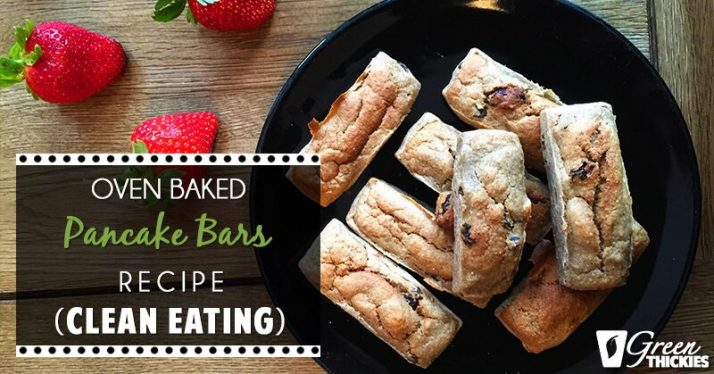 Oven Baked Pancake Bars Recipe (Clean Eating) 2