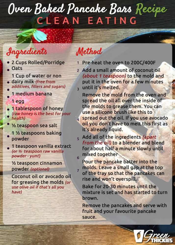 Oven Baked Pancake Bars Recipe (Clean Eating) Full Ver 2