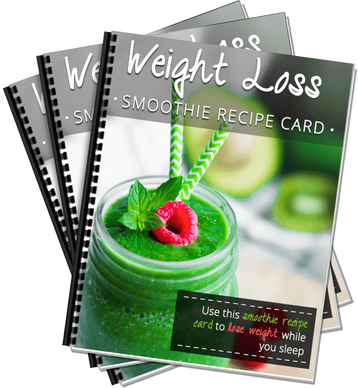 Weight Loss Smoothie Recipe Card - binderlayingstack
