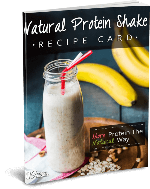 Natural Protein Shake Recipe Card