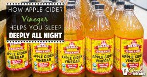 How Drinking Apple Cider Vinegar Helps You Sleep Deeply All Night (Blog Post)