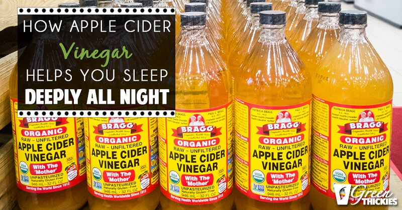 How Drinking Apple Cider Vinegar Helps You Sleep Deeply
