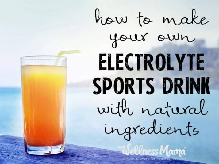 Natural Electrolyte Sports Drink
