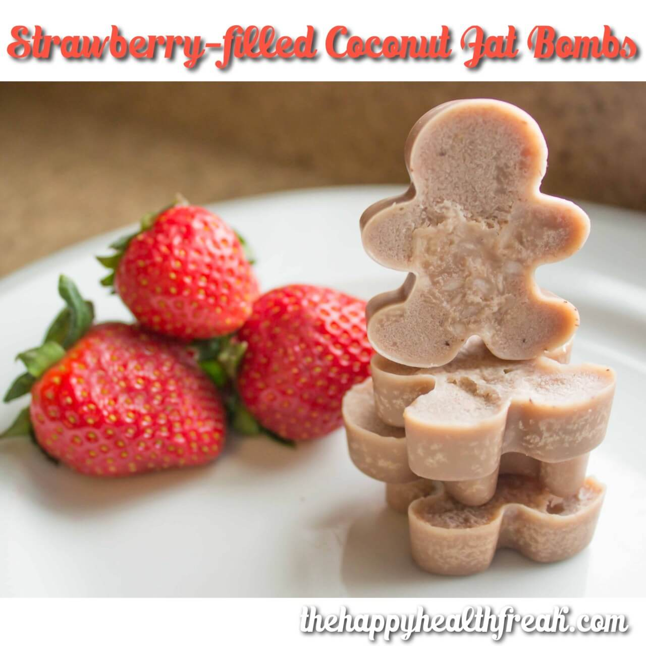 Strawberry-filled Coconut Fat Bombs