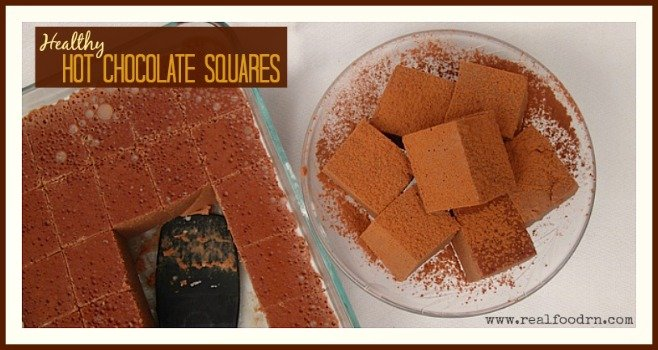 Hot Healthy Chocolate Squares