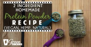 2 Ingredient Homemade Protein Powder Recipe (Vegan, Hemp, Natural)