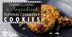 Thanksgiving 4-Ingredient Pumpkin Cranberry Cookies