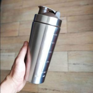 Stainless Steel Protein Powder Shaker Bottle