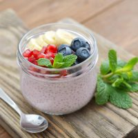 Beautiful Banana And Blueberry Chia Pudding Recipe