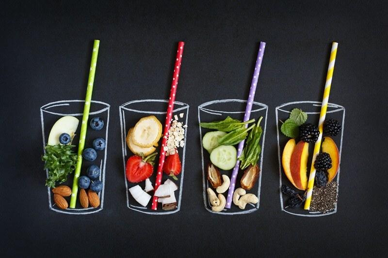 189 Smoothie Ingredients List: Calories, Protein, Carbs, Fat; Fresh smoothie ingredients
