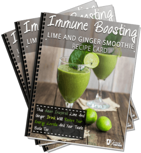 Immune Boosting Lime And Ginger Smoothie Recipe Card