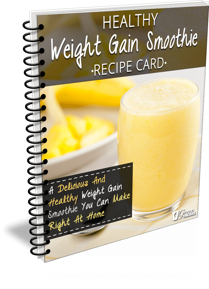 Healthy Weight Gain Smoothie Recipe Card