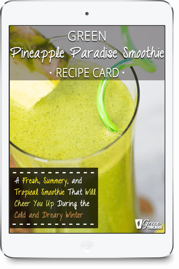 Green Pineapple Paradise Smoothie Recipe Card