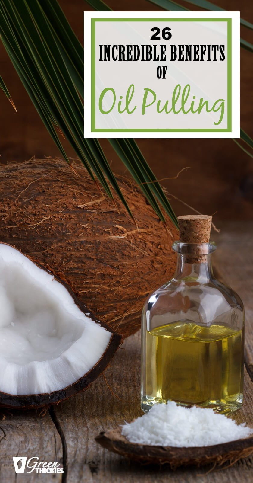 Oil pulling is basically swishing oils around your mouth like mouthwash. Would you believe there are actually 26 incredible benefits of oil pulling?Click the pin to find out why you need to add this to your morning routine!#greenthickies #oilpulling #oilpullingbenefits #curecavities #morningroutine #whiterteeth #naturaldentalhealth #toothdecay #cavities #homeremedies #homeremedy #reversecavities