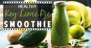 This Healthy Key Lime Pie Smoothie is an absolute must try. You'll love it.