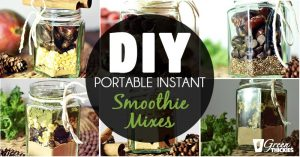 DIY Portable Instant Smoothie Mixes - A Beautiful Healthy Homemade Gift