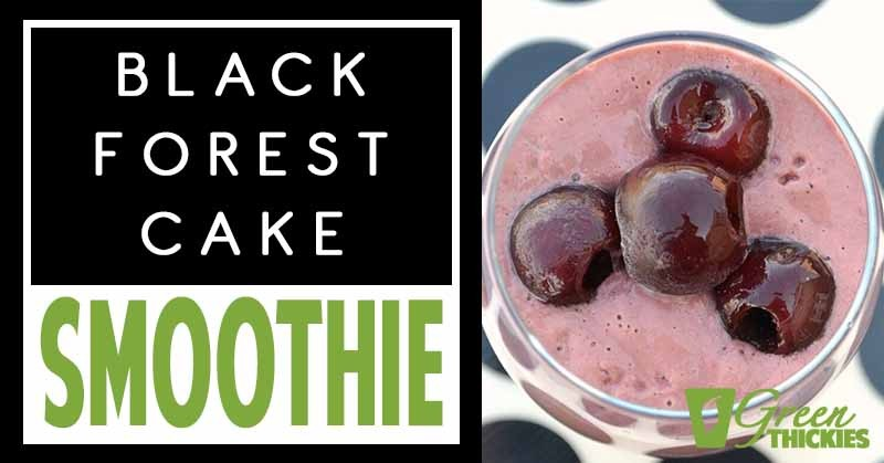 Easy Black Forest Cake Smoothie
