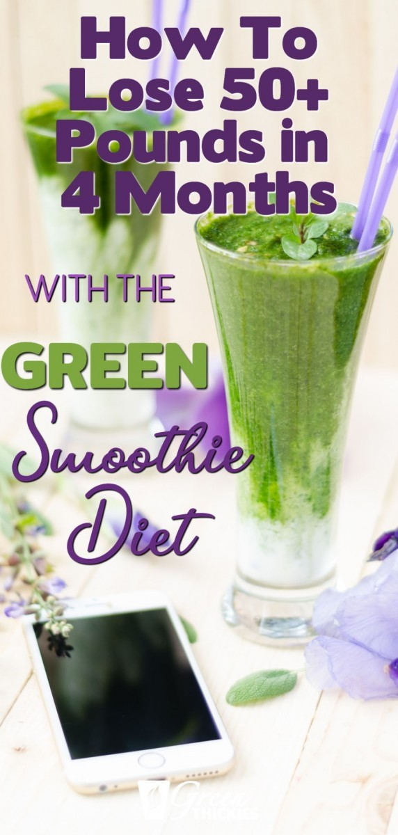 How to lose 50 pounds in 4 months on the green smoothie diet