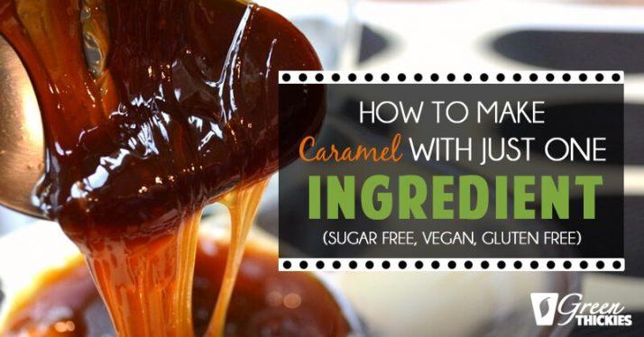 How to make caramel with just one ingredient (Sugar free, vegan, gluten free)