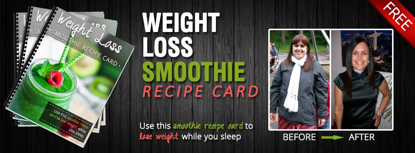 Weight Loss Smoothie Recipe Card from Green Thickies (Complete Meal Green Smoothie Recipes)
