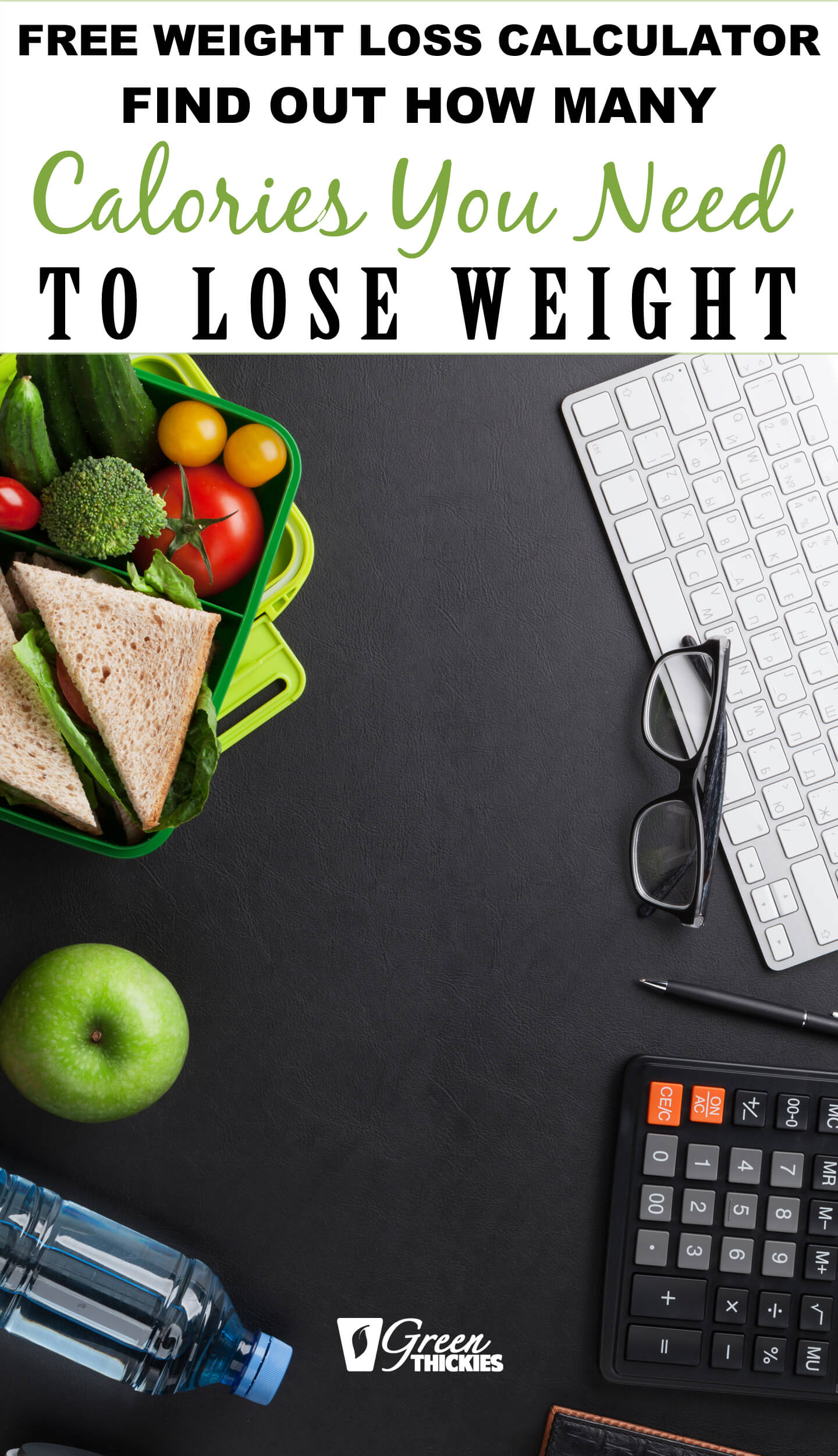 This free weight loss calorie calculator will show you how many calories you need to eat to lose weight. The secret to losing weight is...#greenthickies #weightloss #caloriecalculator