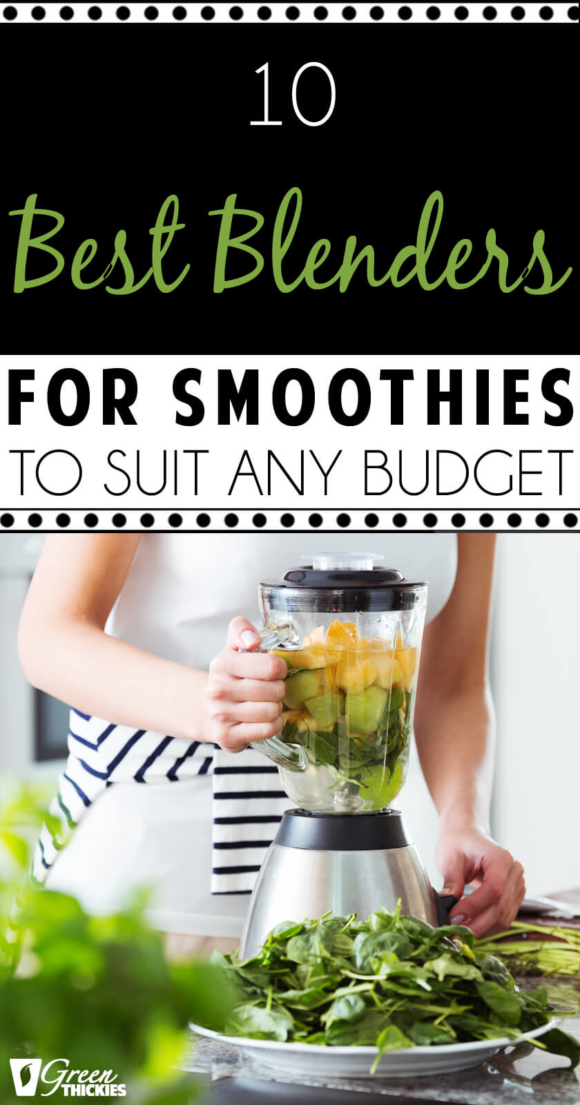 Regardless of  budget, you will find a smoothie maker to suit you in this list of the 10 best blenders on the market to date.Buy a blender you can afford.Number 1 is the one I use every day because...#greenthickies #smoothie #blender #smoothieblender #bestblender