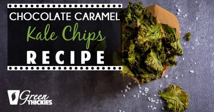37 Healthy Valentine's Day Recipes: Indulge Without The Bulge Chocolate Caramel Kale Chips Recipe by green thickies