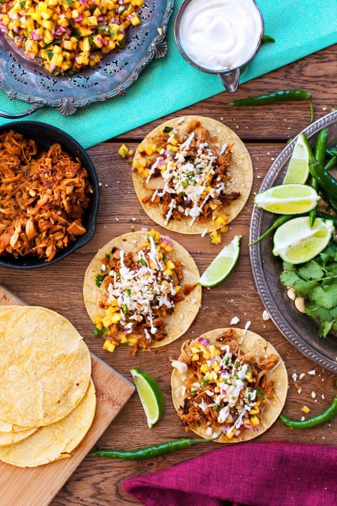 37 Healthy Valentine's Day Recipes: Indulge Without The Bulge  Jackfruit Tacos (Pulled Pork Tacos) limes, coriander and green chillies