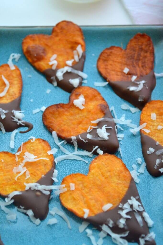 37 Healthy Valentine's Day Recipes: Indulge Without The Bulge CHOCOLATE SWEET POTATO HEARTS