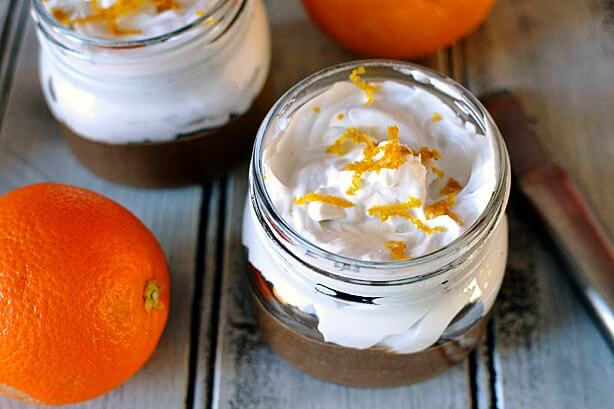 37 Healthy Valentine's Day Recipes: Indulge Without The Bulge Homemade chocolate orange pudding gluten free vegan paleo with whipped coconut cream