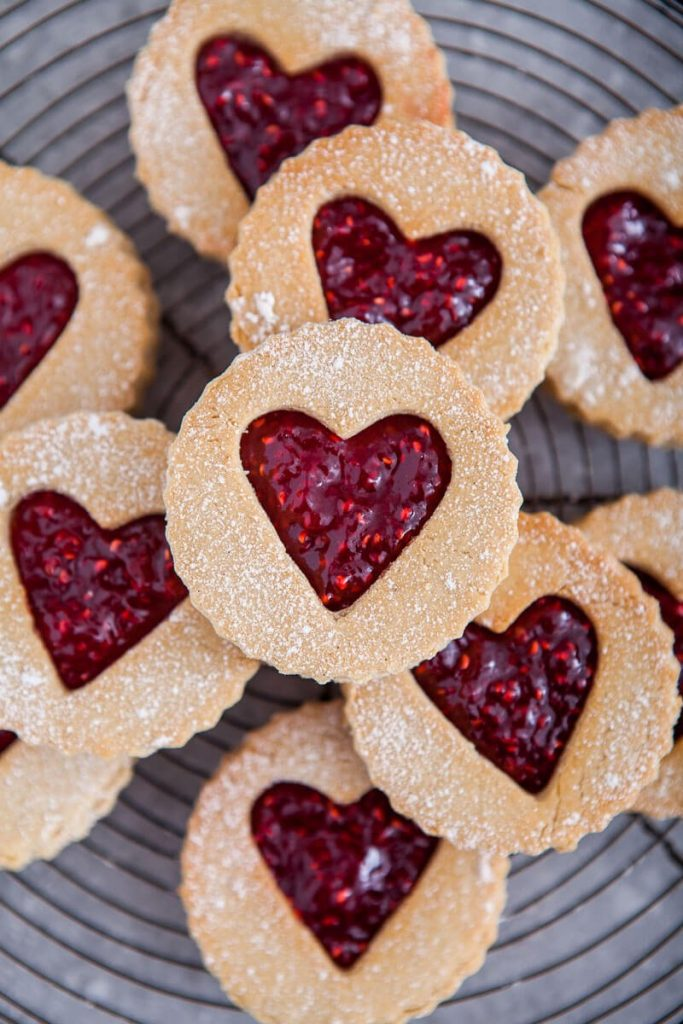 37 Healthy Valentine's Day Recipes: Indulge Without The Bulge Gluten Free Coconut And Raspberry Linzer Cookies