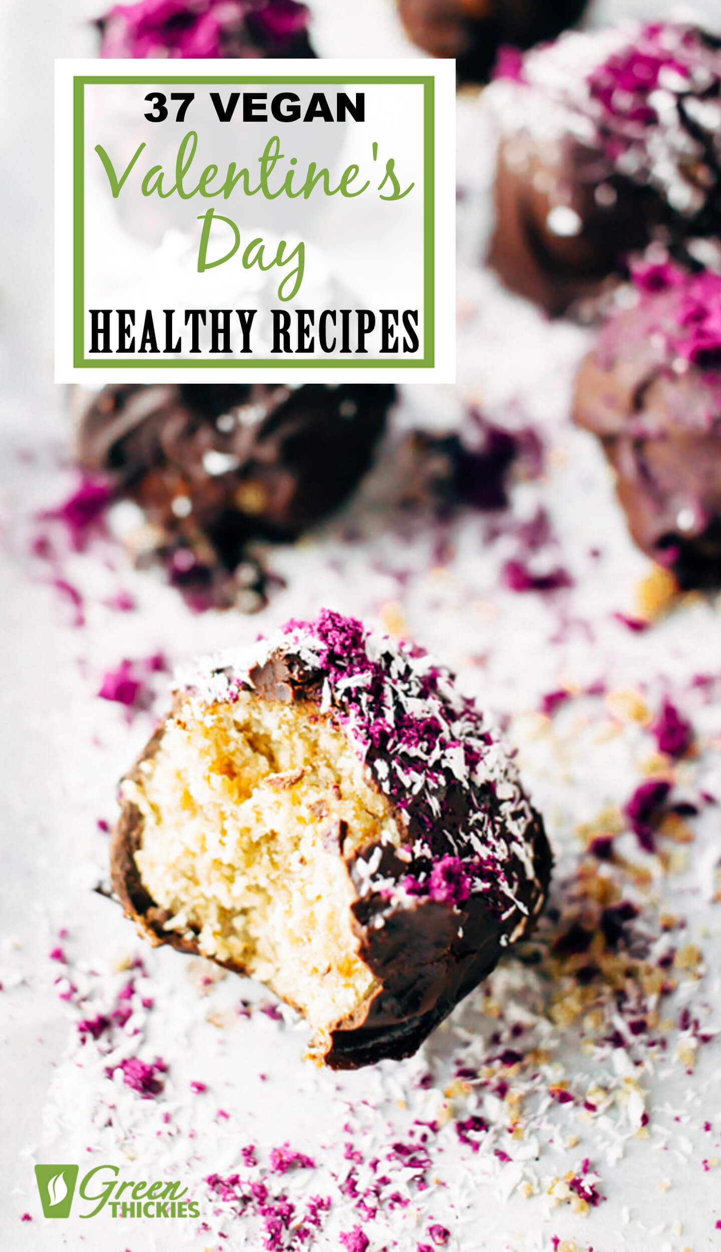 These healthy valentine's day recipes will help you indulge without creating any additional bulge on your body! Treating yourself on special occasions is fun at the time, but very soon, you end up feeling bloated, guilty and not so happy with yourself. Who wants to look bloated on a romantic occasion? So why not make some tasty recipes that just so happen to be healthy at the same time? Click the link to get them. #greenthickies #valentinesday #valentinesdayrecipes #valentinesdayfood