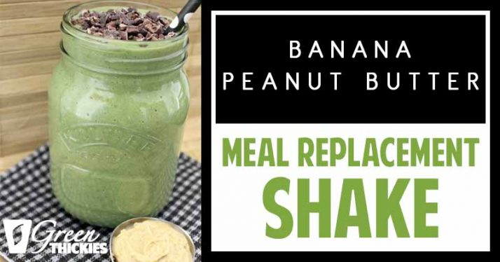 Banana Peanut Butter Smoothie: Green ThickieBanana Peanut Butter Smoothie: Green Thickie