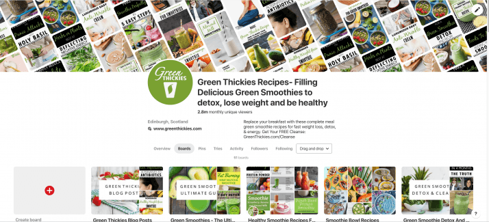 Green Thickies Pinterest Page