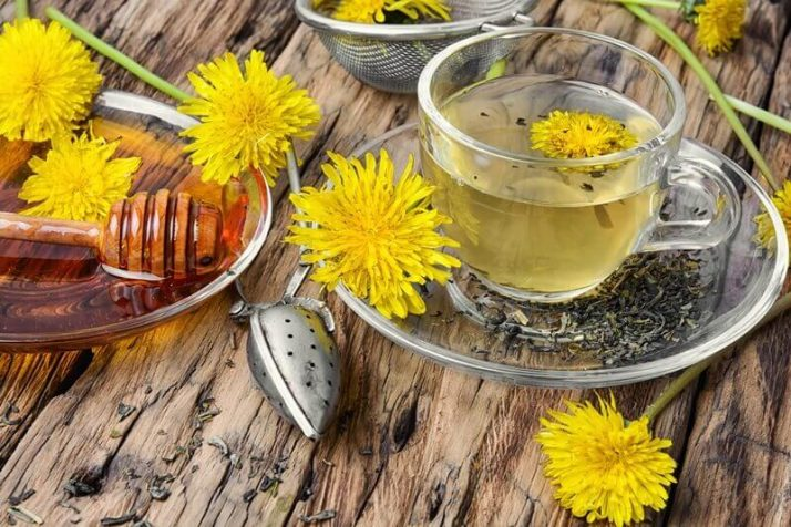 How To Lose Water Weight - 14 Ways To Reduce The Bloat  Tea with honey dandelion