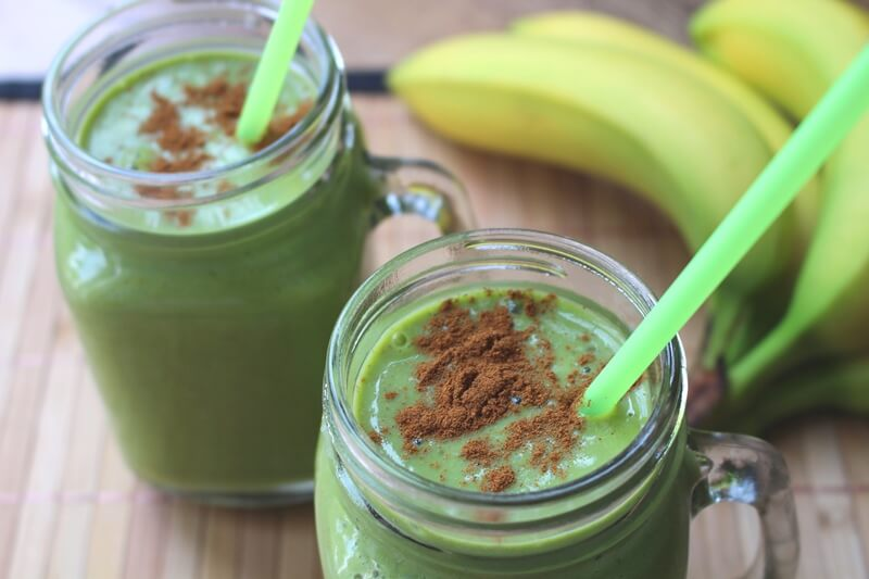 33 HEALTHY Green Drinks For St Patrick's Day Banana peanut butter Green thickie