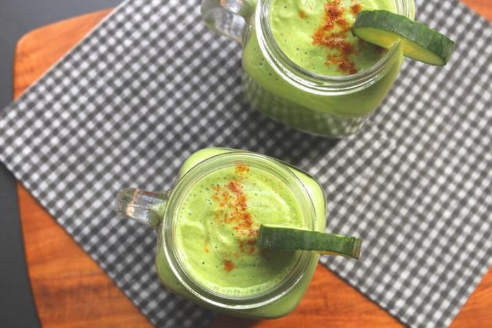 23 BEST Green Smoothie Recipes For Detox & Beauty Cucumber Lassi Complete Meal Green Thickie