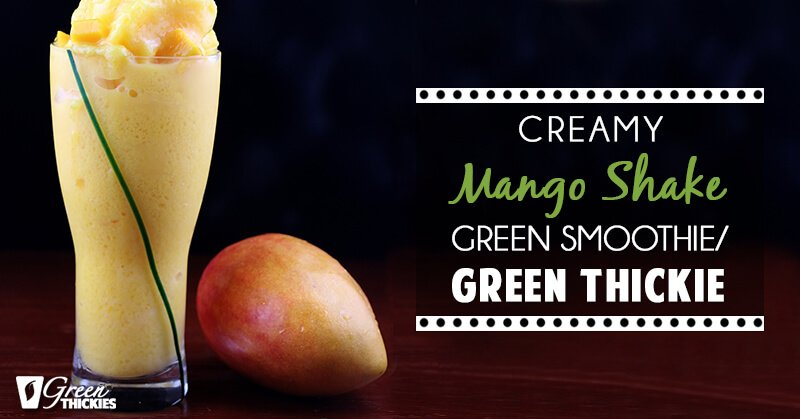 33 HEALTHY Green Drinks For St Patrick's Day Creamy Mango Shake
