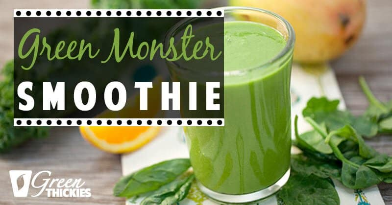 33 HEALTHY Green Drinks For St Patrick's Day Green Monster Smoothie