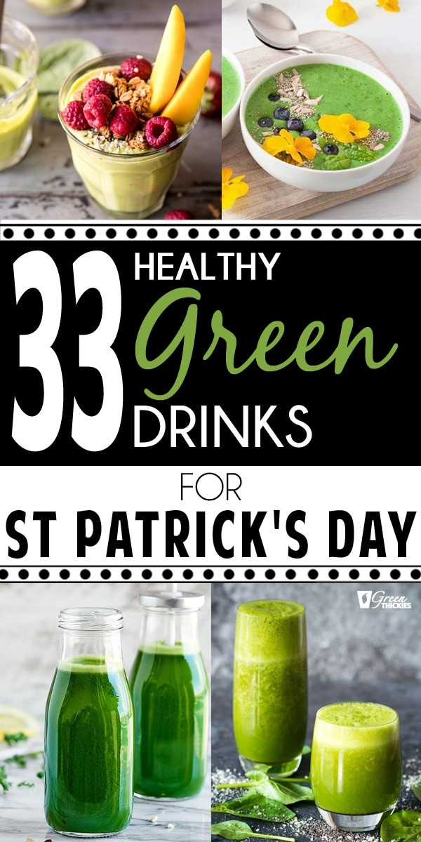 33 HEALTHY Green Drinks For St Patrick's Day pin image
