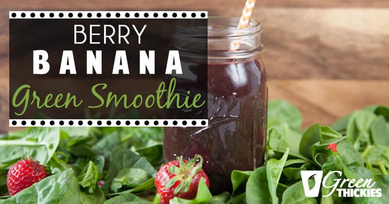 33 HEALTHY Green Drinks For St Patrick's Day Berry Banana Green Smoothie