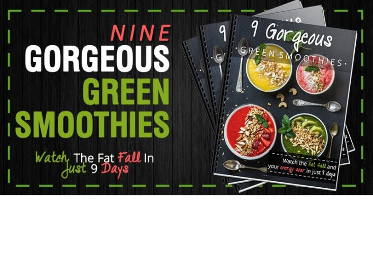 9 Gorgeous Green Smoothies Recipe eBook (All Spinach Smoothies)